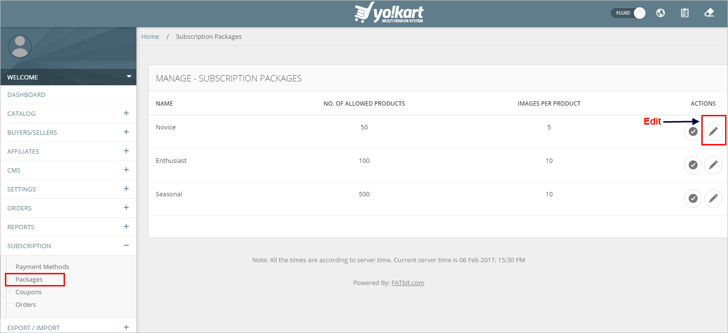 Subscription Packages