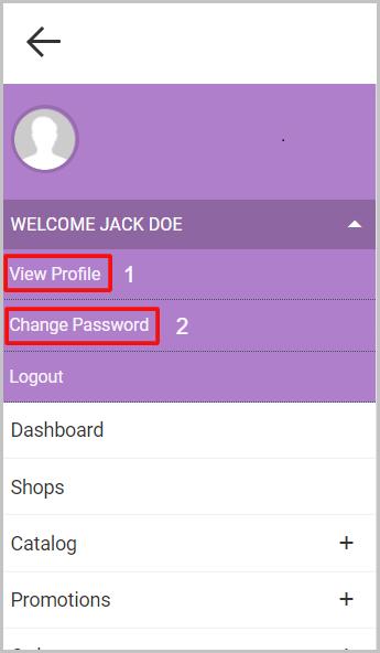 admin profile left navigation